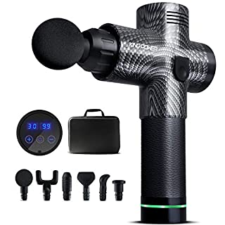 Upgraded Massage Gun Deep Tissue for Athletes, 30 Speed Professional Percussion Muscle Massager for Pain Relief, Handheld Electric Body Massager for Back Neck, Cordless Massager KingPower-DOACE
