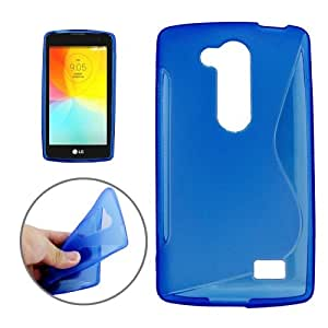 S Line Anti-slip Frosted TPU Funda Protective Case Funda Para LG G2 Lite/D295 (Dark Blue)