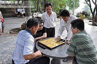 YINYMM High grade Chinese chess drawer folding chessboard,3cm b