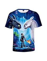 X-COSTUME How to Train Your Dragon T Shirt Kids, Light Fury Shirt How to Train Your Dragon 3 Tee Shirt for Boys Girls Toddler