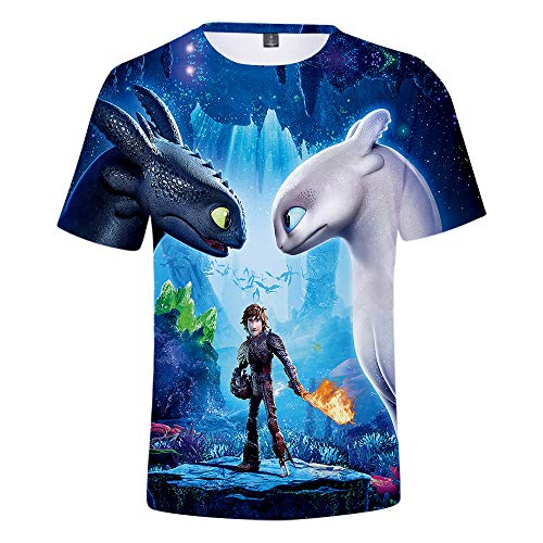 How to Train Your Dragon T Shirt Kids, Light Fury Shirt How to Train Your Dragon 3 Tee Shirt for Boys Girls Toddler]()