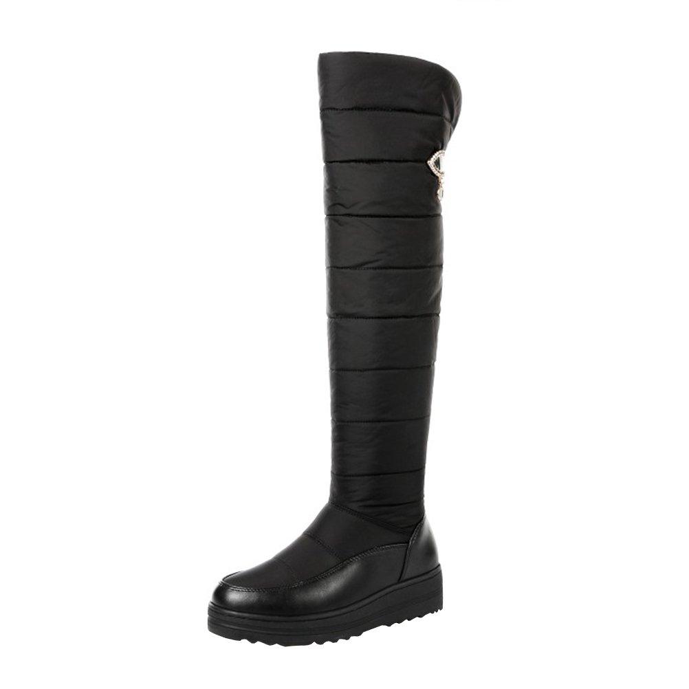 Agodor, Noir Bottes pour pour Femme B000W069PS Noir 1b43c04 - jessicalock.space