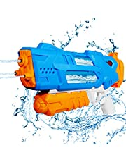 Auney Water Gun for Kids, Transparent Squirt-Gun for Adults 30 Ft Long Range Water Shooter for Children Beach Swimming Pool Water Toys
