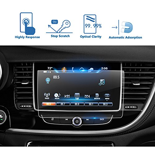 Glass Thanksgiving (2018-2019 Buick Encore 8-Inch Car Navigation Screen Protector, LFOTPP Clear TEMPERED GLASS Infotainment Display In-Dash Center Touch Screen Protector)