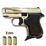 Pistolet Blancs en MÉTAL 315 Baby 8 MM Nickel 0.4 Joule- BR-315N.8 3