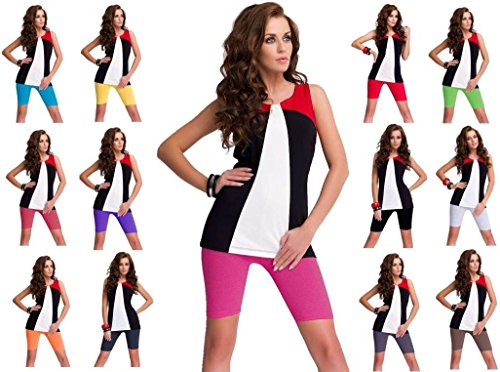 sopra pantaloncini colori ginocchio pantaloncini hot 16 Pack con pants 2 da calzoncini Marrone qtwRHR