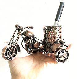 MYTANG Creative office desktop accessories, The motorcycle loves metal pen holder