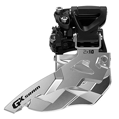 SRAM GX Bicycle Front Derailleur with 2 x 10 Mid Direct Mount 34T Bottom Pull
