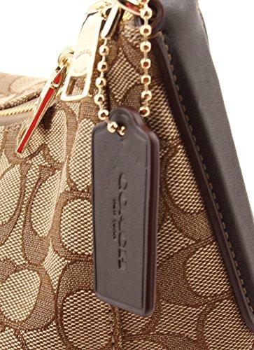 Celeste Outline Handbag Coach Signature Crossbody Shoulder Hobo Brown Bag Purse awqpEq