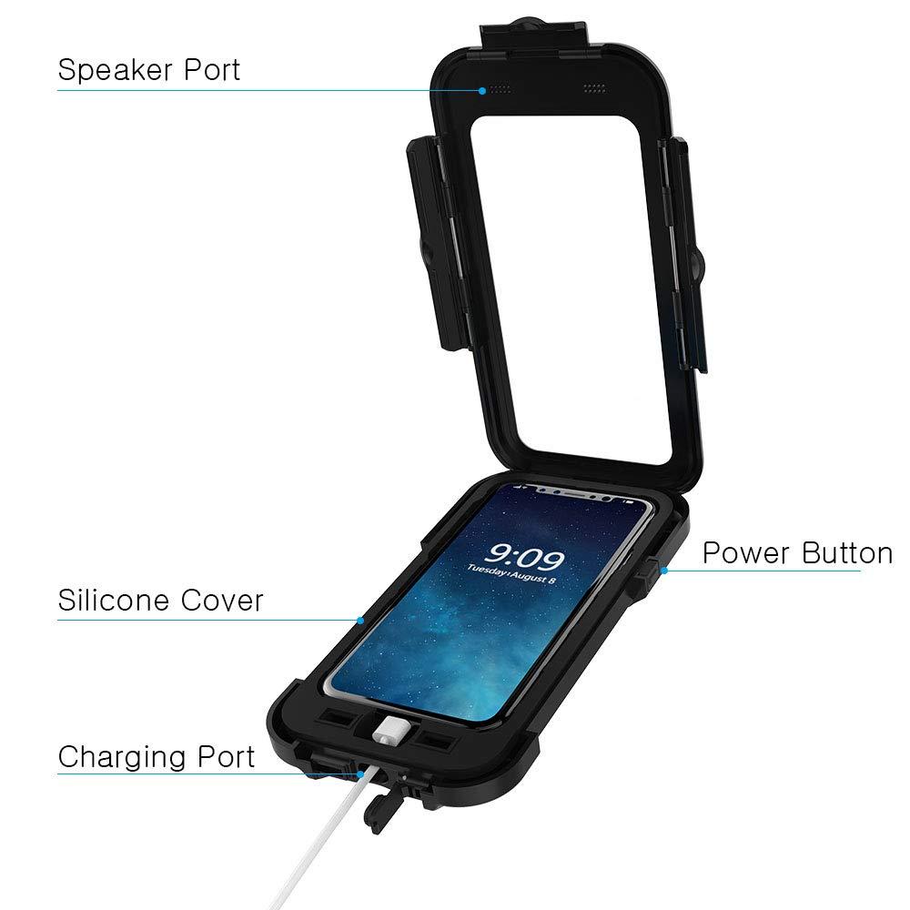 iPhone X/XS Bicicleta Soporte, JEMACHE Bicicleta/Soporte de Manillar de Bicicleta Y Moto Soporte Impermeable para iPhone X/XS (5,8