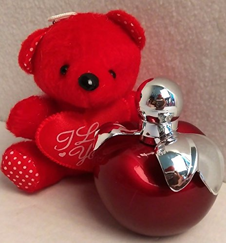 Price comparison product image Mother's Day Gift Set for Her - Includes: Romantic Sweet Eau De Parfum Body Spray for Women in an adorable Red Apple shaped bottle with Soft Plush Teddy Bear