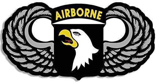 Bumper Window Sticker 101st Airborne Self Stick Vinyl 3x9 NEW Made in USA
