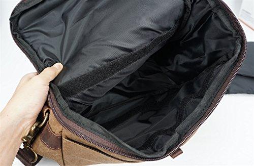 la del de del SLR Bolso los la bolso caballo Bags Ying loco de de cámara Lona con hombres estilo batik ocasional impermeable Bolso de cruzado hombro la del del lona Bronze bolsa xvwS01nZwq