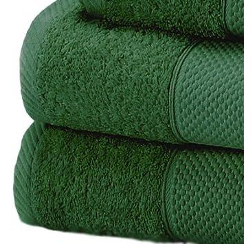 Linens Limited Toalla de baño extragrande - 100% algodón turco - Verde bosque, 100x180cm: Amazon.es: Hogar