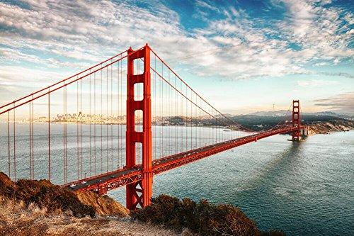 Faraway Golden Gate San Francisco USA bridge sea heavy mist Crystal Diamond Painting Full Round Diamond Rhinestone Mosaic - Bridge Usa
