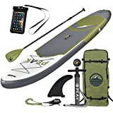 """PEAK Paddle Boards PEAK Inflatable 10'6 All Around Stand Up Paddle Board Complete Package (6"""" Thick)   Includes Adjustable Paddle, Travel Backpack, Coil Leash"""