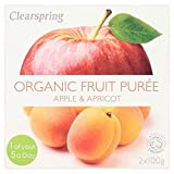 Clearspring Organic Apple & Apricot Dessert 2 x 100g - Pack of 6
