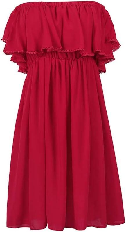 Vestidos Ropa/Mujer Cóctel Falda De Playa para Mujer Rojo Falda De ...