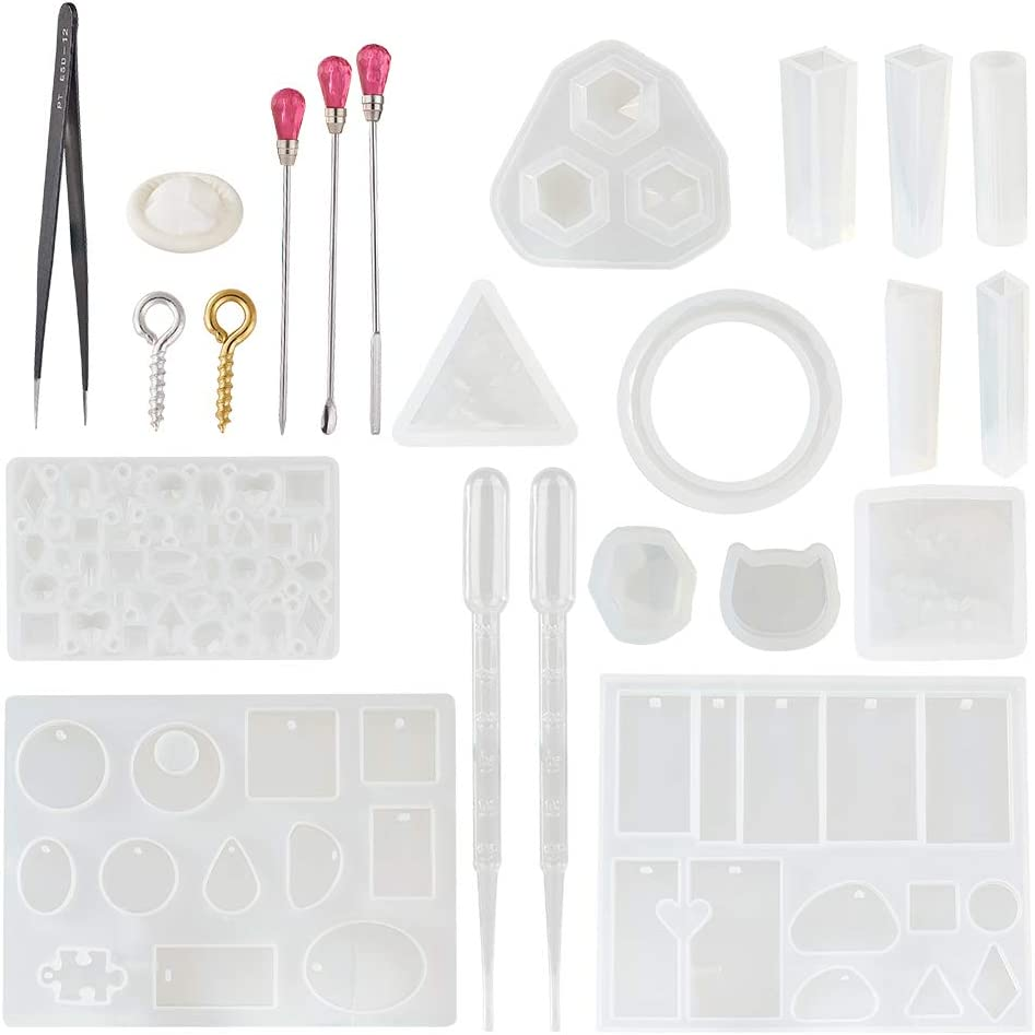 DIY Crafts Tools UV Epoxy Crystal Silicone Mold Jewelry Making Ring Resin Mould