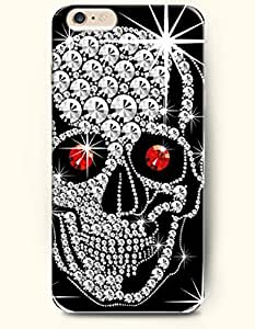 OOFIT iPhone 6 Case ( 4.7 Inches ) - Diamond Skull with Ruby Eyes by supermalls