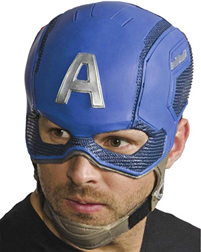 Marvel Rubie's Costume Co Men's Avengers 2 Age Of Ultron Adult Captain America Full Latex Mask, Multi, One Size - Adult Captain America Mask