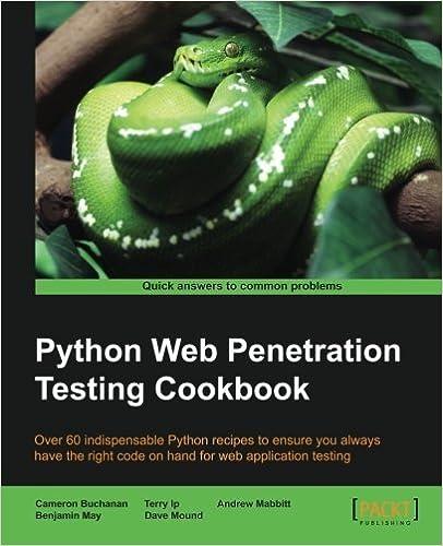 Book Python Web Penetration Testing Cookbook by Cameron Buchanan (2015-06-30)
