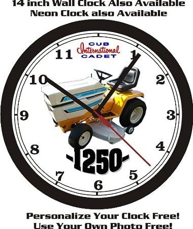 Amazon com: CUB CADET 1250 LAWN TRACTOR WALL CLOCK-FREE USA