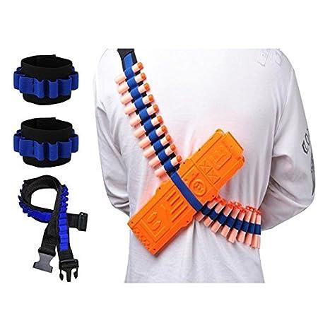 Aolvo Bullet - Bandolera con correa para el hombro y 2 correas para la muñeca para Nerf N-Air, Elite, Bullet Shoulder Strap*1 + Dart Wrister*2