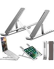 Laptopstativ, uppgradera höghållfast aluminium halkfri datorhållare laptop stigare, ergonomisk 6 nivåer justerbar ventilerad notebook stativ, för MacBook Pro Air, iPad, Dell, Lenovo