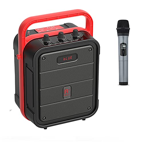 Shinco Bluetooth Karaoke Machine with Wireless Microphone, Portable PA System, Rechargeable Speaker with Remote Control, FM Radio, AUX-in, USB/TF Slot, Perfect for Party Outdoors