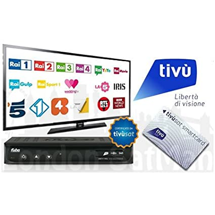Tivusat SD decoder and smart card certified Italian satellite TV receiver   UK stock Pre-Activated Tivu Sat