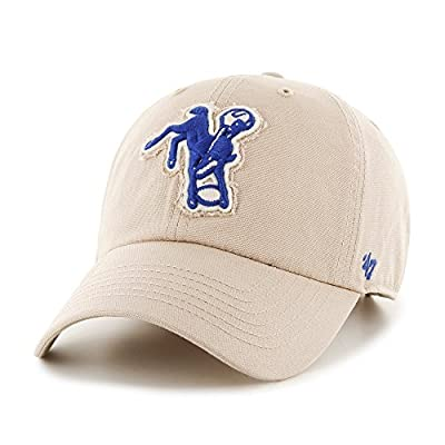 "Indianapolis Colts 47 Brand NFL ""Wright"" Clean Up Adjustable Hat - Khaki by 47 Brand"