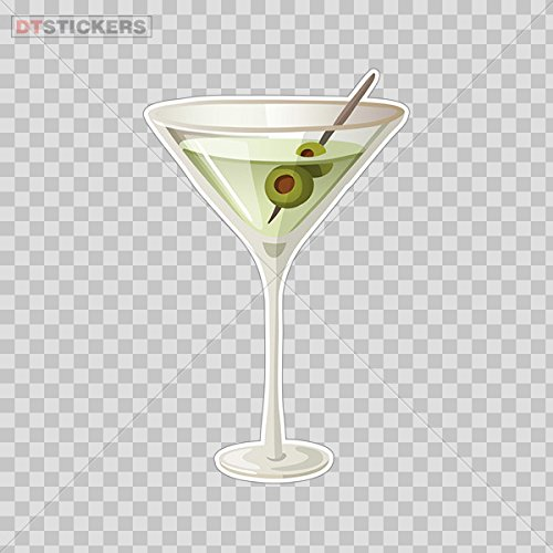 (Decal Glass Of Drink Martini Car Window Jet Ski D217)