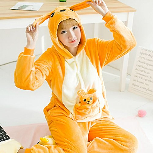 One Piece Ispessimento l Animale Usura Adult Unisex canguro Deed Costume Peluche Pigiami Inverno Cosplay Svago Di wZvX8Iq