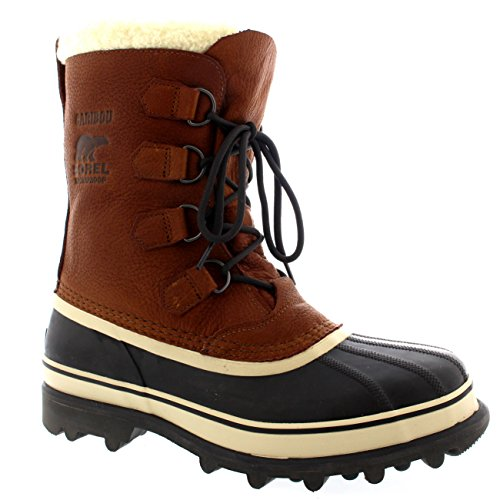 50%OFF Mens Sorel Caribou WI Mid Calf Snow Winter Rain Fur Lined Leather Boot