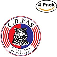 Club Deportivo FAS El Salvador Soccer Football Club FC 4 Stickers Car Bumper Window Sticker Decal 4X4