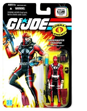 Gi Claws Joe (GI Joe 25th Anniversary Cobra Diver Underwater Trooper Action Figure)