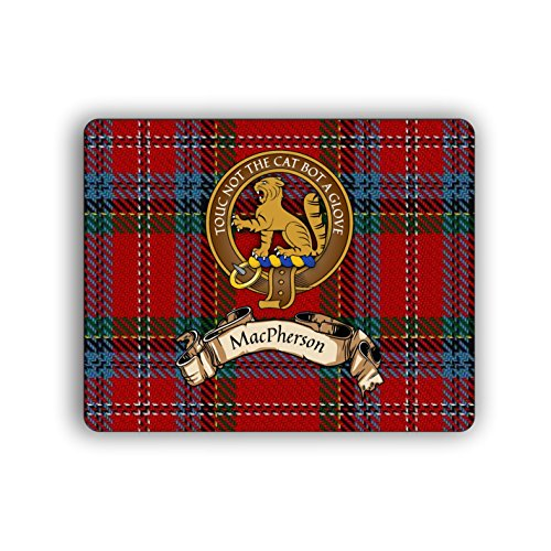 (MacPherson Scottish Clan Tartan Crest Computer Mouse Pad)