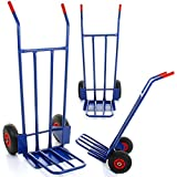 Marko Tools 600LB Sack Truck Heavy Duty Industrial Hand Trolley Warehouse Pneumatic Ty