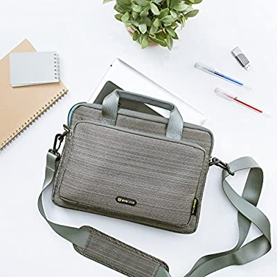 for Apple iPad Samsung Galaxy Kids Tablet and More Gray Tablet Bag Evecase 9.7~10.1 inch Tablet Suit Fabric Multi-Functional Neoprene Messenger Tote Bag with Handle and Carrying Strap