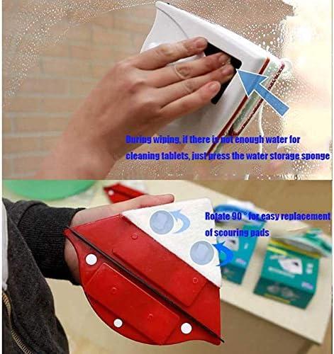 yunyu Nettoyant magnétique pour vitres, nettoyant magnétique pour vitres Double Face, sans Angle Mort magnétique Super Puissant Convient pour 15-24MM, essuie-Glace magnétique