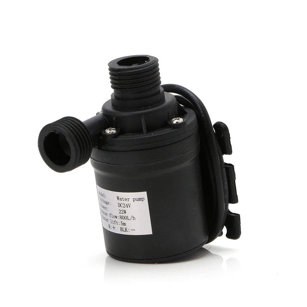 HittecH 800L/H 5m DC 12V 24V Solar Brushless Motor Water Circulation Water Pump