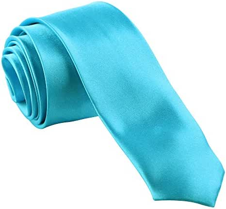 New Mens Solid Color Blue Ties