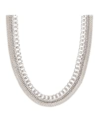 """Silpada Sterling Silver Layered Chain Necklace, 16+2"""" Extender"""