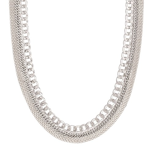 Silpada 'Layered Chain' Sterling Silver Necklace, 16+2'' by Silpada
