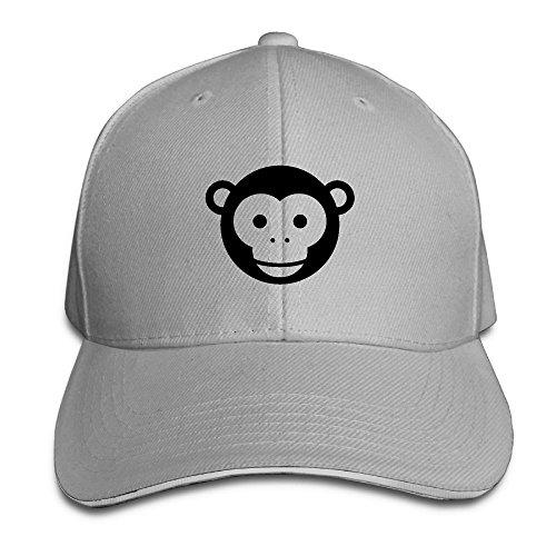 Safan532 Monkey Head Funny Animal Logo Fashion Unisex Pattern Cotton Cap Adjustable Baseball Hat Caps Ash (Baby Halloween Costumes 2017 Uk)