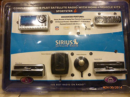 Sirius SP4TK1VP Sportster Model 4 Bundle with Home Kit