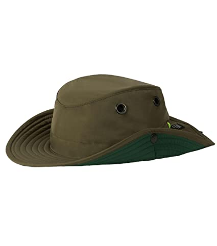 18e79b9555b Image Unavailable. Image not available for. Color  Tilley TWS1 Paddlers Hat  Olive ...