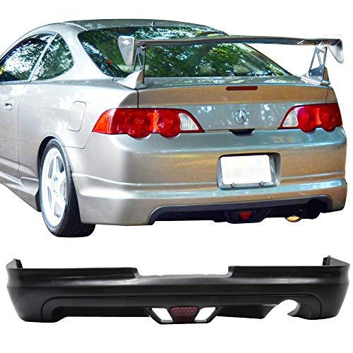 Bumper Rsx Acura (IKON MOTORSPORTS Rear Bumper Lip Fits 2002 2003 2004 ACURA RSX | PU Black Rear Lip Spoiler Splitter)