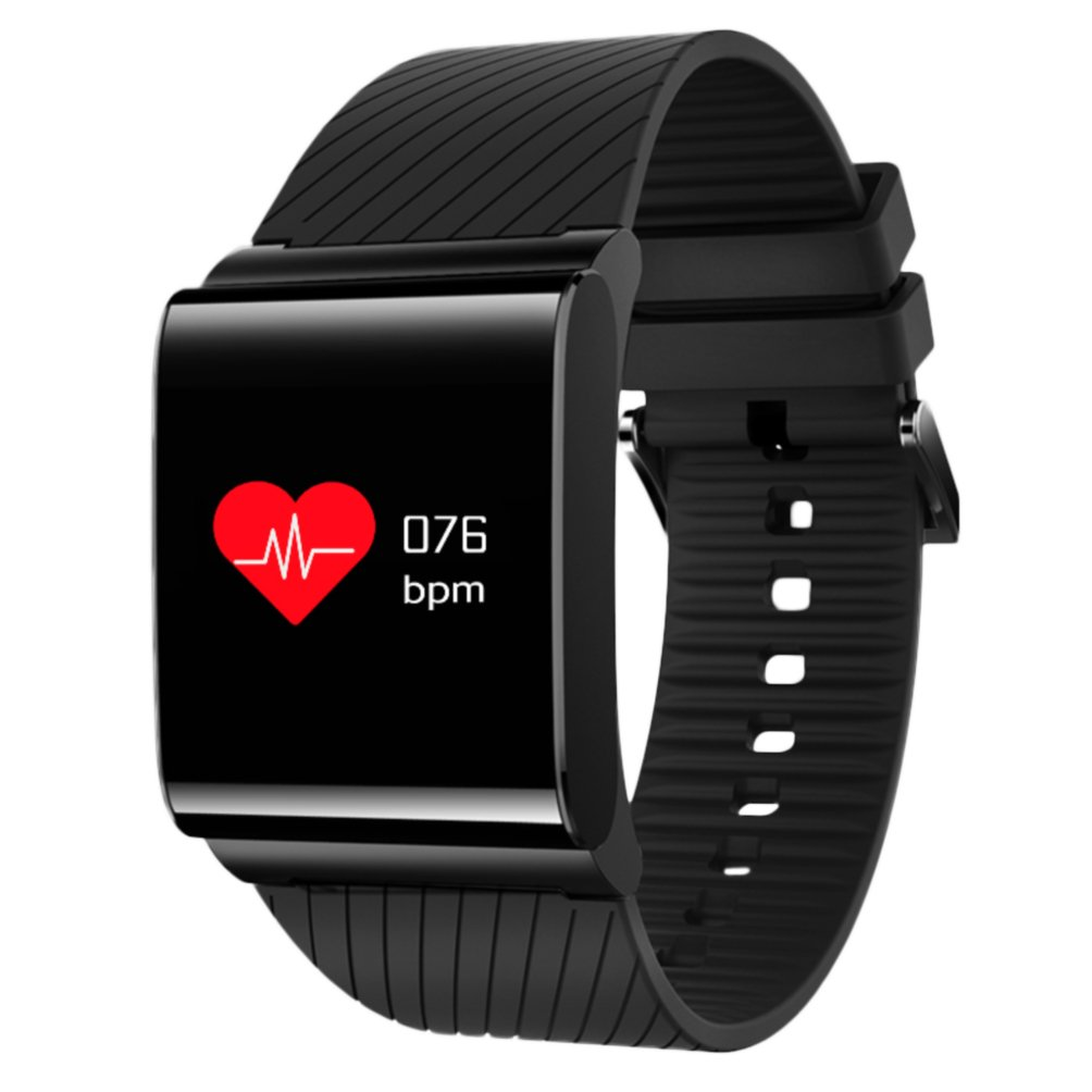 MyRBT Bluetooth 4.0 Waterproof X9 Pro Fitness Tracker, Blood Pressure Oxygen Heart Rate Monitor Smart Bracelet Sports Wristband Activity Watch for Android and IOS Phone Black